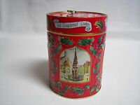 """Vintage Lambertz Musical Tin Iced Gingerbread Cookies Germany """"Deck the Halls"""""""