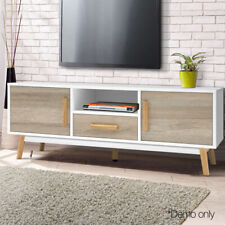 Scandinavian Inspired TV Entertainment Unit Cabinet Stand Storage Drawer Shelves