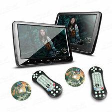 "2x 10.1"" Slim Active Car Headrest DVD Player Digital Monitor HDMI Game IR FM USB"