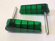 Bally 1970s 1980s Pinball Machine Green Translucent Flippers Set of 2 Eight Ball