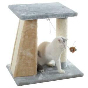 Premium Cat Tree with Top Platform and Hanging Mouse Toy by Armarkat