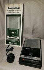 Panasonic Slim Line RQ-2103 Vintage Portable Tape Player Recorder w/AC Adapter