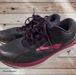 Brooks Dyad 9 DNA Womens Running Training Shoes Grey Purple Size 9 Wide