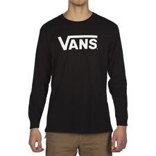 VANS CLASSIC LONG SLEEVE T SHIRT  BLACK WHITE