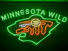 "New Minnesota Wild Hockey Lamp Poster Beer Neon Light Sign 24""x20"""