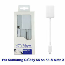 MHL to HDMI Cable HDTV Adapter for Samsung Galaxy  S5 S4 S3 & Note 2 3 4 Tab 3