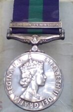 British RAF General Service Medal with Arabian Peninsula Clasp  Pre-Owned