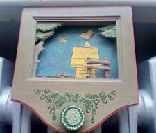 "New ListingSnoopy Peanuts Anri Vintage Wooden Wall Hanging Music Box ""Yellow Bird�"