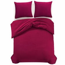 vidaXL Duvet Cover Set Burgundy 200x200/60x70cm Bedding Pillowcase Bedspread