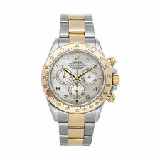 Rolex Cosmograph Daytona Auto 40mm Steel Gold Mens Bracelet Watch Chrono 116523