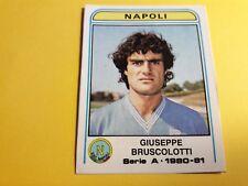 GIUSEPPE BRUSCOLOTTI NAPOLI FIGURINA ALBUM CALCIATORI PANINI 1980/81 n°214 rec