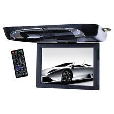 "Tview 15"" Flip Down Monitor with DVD Player USB/SD IR/FM T1591DVFDBK"