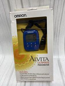 Omron Alvita HJ325 Blue Tri-Axis Alvita Ultimate Pedometer Step Counter