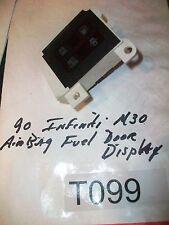 1990 Infiniti M30 Air Bag Fuel Door Warning Light s Airbag   NICE ONE#T099  E