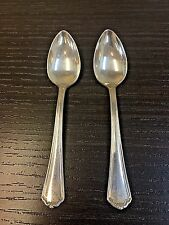 Pair of Rogers Mfg Co. Puritain Demitasse 1912 Silver Plated Spoon