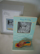 Just The Right Gift Raine Photo Frame Happy Birthday W/ Shoe New In Box