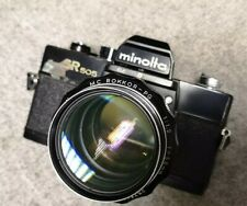 Minolta SR505 35mm SLR Camera + MC Rokkor-PG 58mm 1.2 + MD-NEX lens adapter
