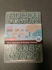 38-Piece Alphabet Numbers Cookie and Fondant Cutter Set, Blue