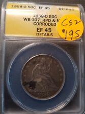 1858 O Certified Seated Liberty Half Dollar C52