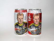 (2)Vintage 1996 Mark Martin Chek Cola Soda Cans NASCAR Fitzgerald GA Deep South