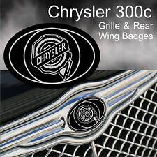 Chrysler 300c Logo Grille and Rear Wing Badge Emblems (B/C)
