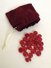 Red Jewels Gems & Velvet Pouch~Dread Pirate Game Treasure Chest Booty Props