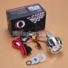 "2.5"" Latest Dual LED Angel Eye HID BI-Xenon Projector Lens Headlight Kit Halo #1"