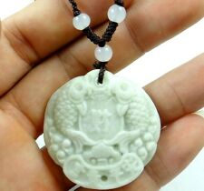 39*38 MM100% Chinese natural jade hand-carved the statue of Pisces PENDANT