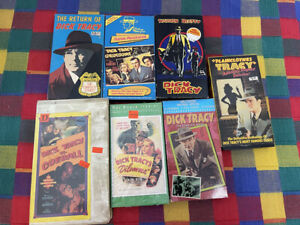 Dick Tracy VHS Lot (7)