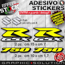Adesivi / Stickers Kit SUZUKI GSX R 750 SBK GSX GIALLO FLUO CROMO TOP QUALITY !!