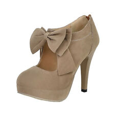 Party Ladies Bow Stilettos Office Shoes Mens High HEELS Size 11 10 9 8 7 6 5 Beige UK 9.5 ( Size Tag CN 45)