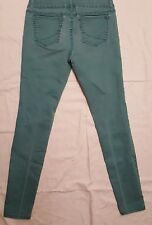 Princess Vera Wang Junior Womans Skinny Jeans Size 7 Green Whiskering Trendy