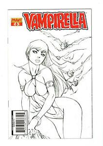Vampirella (Dynamite 2010-2014) #6 Ale Garza Sketch B&W Black White Variant (NM)