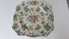 More details for royal winton  queen anne cake plate  / stand