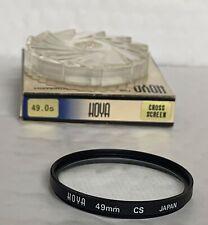 Hoya 49mm Fit, Cross Screen Filter, & Keeper