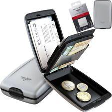 TRU VIRTU Kartenetui Kreditkarten Geldbörse Portemonnaie Aluminium RFID Silver