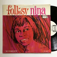 Nina Simone Folksy Nina LP Colpix Mono Promo