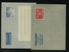 Nepal   2  air  letter  sheets  unused         MS1030
