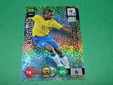 ROBINHO STAR BRASIL PANINI FOOTBALL FIFA WORLD CUP 2010 CARD ADRENALYN XL