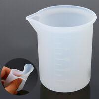 100ML Silikon Harz Schmuck DIY Transparent Messbecher Labor Kunststoff Beakers