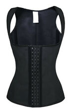 Women Latex Body Shaper Vest Slim Waist Training Cincher Corset Bustier Top EN5