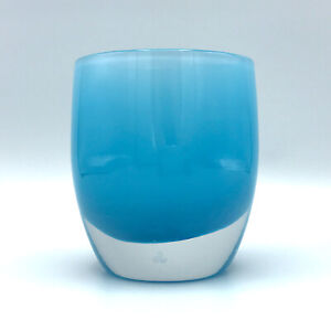 Glassybaby CABO Blue Votive Candle Holder