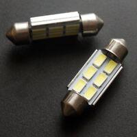 COPPIA LAMPADE 6 LED SMD LAMPADINE CANBUS A SILURO AUTO LUCE BIANCO GHIACCIO 36m