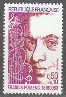 France 1974 MNH Mi 1882 Francis Poulenc ** French composer and pianist.