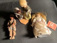 Cherokee Indian Made Dolls Lot Cinderella Fairy Tails Woman Child