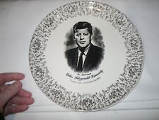 "IN MEMORIAM-JOHN FITZGERALD KENNEDY COMMEMORATIVE 9.25"" DECORATOR PLATE-JFK"