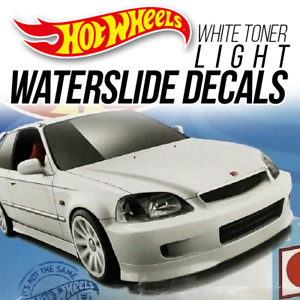 Hot Wheels HONDA CIVIC EK9 Head Tail Light WaterSlide Decal 1/64 Scale Custom