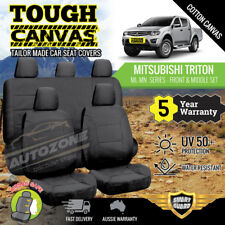 Canvas Seat Covers for Mitsubishi Triton ML MN Series Dual Cab 06/2006 - 2015