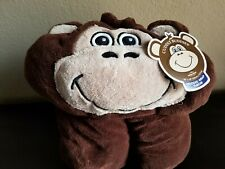 "Berkshire Blanket Cuddly Buddies Cocoa Happy Chimp Hooded Wrap Throw, 40"" X 50"""