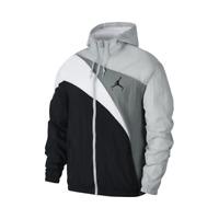 Jordan Jumpman Wave Windbreaker Jacket Men's Black Grey White Sportswear Outwear